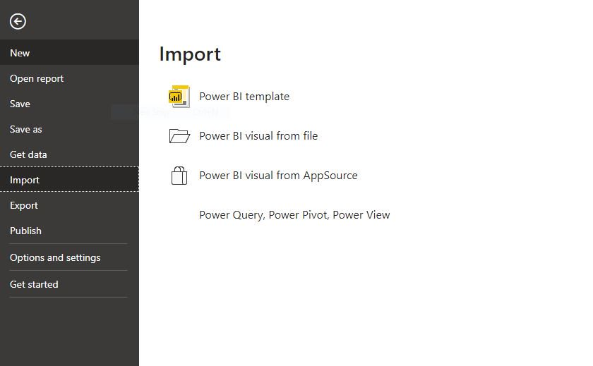 Import vs get data in Power BI Step 2